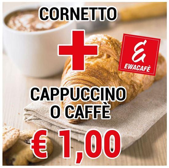 Immagine di Cornetto + Caffè o Cappuccino